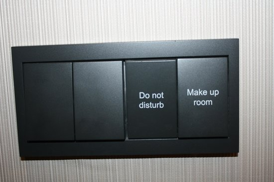 DoubleTree by Hilton Istanbul Avcilar:                   Switch for DND sign in room