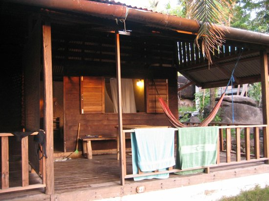 Sai Thong Resort & Spa:                   The deck of one of our bungalows with it's hammock.