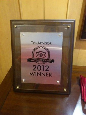 Dong Wu Hotel:                   2012Trip Advisor 最超值飯店