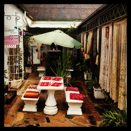 Her Majesteas Salon :                                                       The outside area, with the restaurant on o