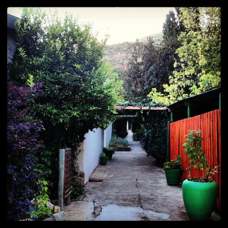 Maluti Mountain Lodge :                   The walkway from receptions to the rooms