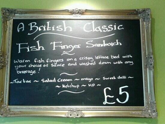 Caramel Square:                   Fish Finger Sarnie..now your're talking!