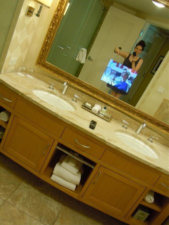 Trump International Hotel Las Vegas:                   Nice bathroom TV mirror you got there, Mr. Trump.