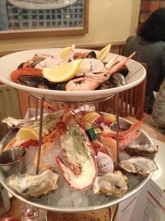 Loch Fyne:                   the seafood platter