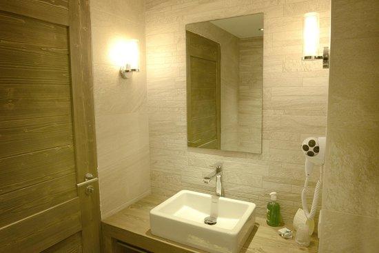 Hotel Restaurant La Toviere : Salle de bain