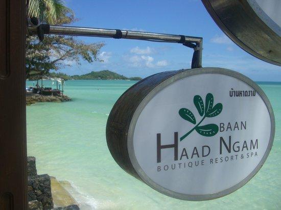 Baan Haad Ngam Boutique Resort & Villas:                   Aussicht vom Restaurant Olivio
