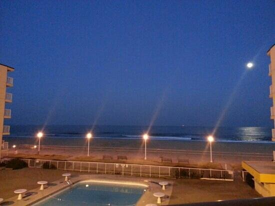 Quality Inn & Suites Oceanfront:                   Our view from our oceanview balcony.
