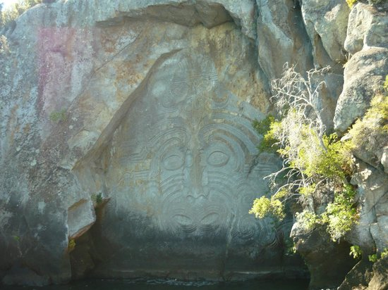 Sail Barbary:                   Maori Rock Carvings Taupo