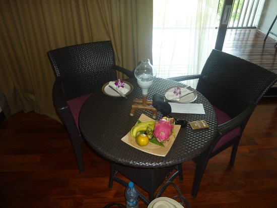 Sareeraya Villas & Suites:                   Fruit platter on arrival.