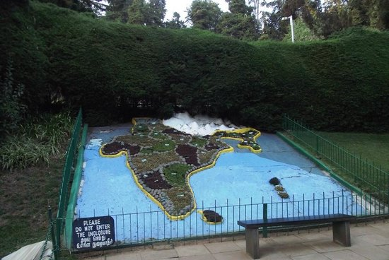 Ooty In India Map.India Map Made Naturally With Plants Picture Of Botanical Gardens