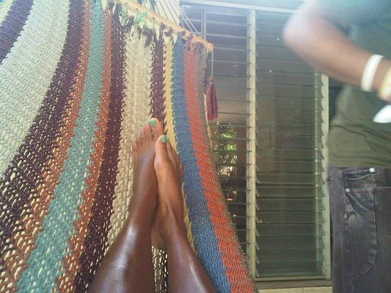Managua Hills Bed and Breakfast: chilling in the hammock before breakfast