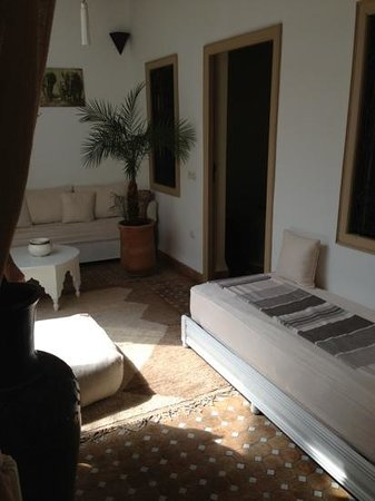 Riad les Orangers d'Alilia Marrakech:                   private sitting area outside our room