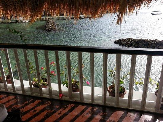 El Nido Resorts Miniloc Island:                   Water cottage patio view