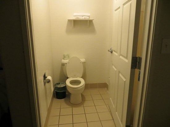 Quality Inn & Suites SeaWorld North:                   Bathroom next to entrance