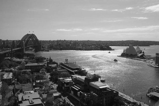 Four Seasons Hotel Sydney:                   Day view of Harbour Bridge and Opera House (Mono)