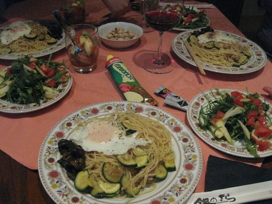 First of Florence Residence Apart'Hotel:                    私たちが作った夕食