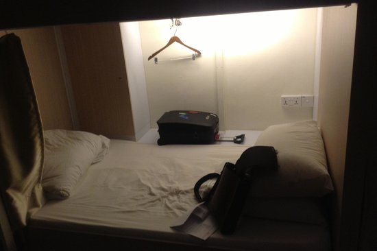 Adler Luxury Hostel:                   Single comfort bed with curtain.