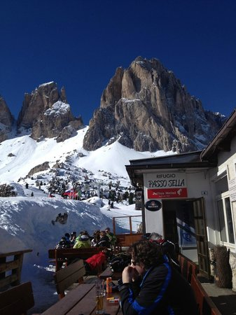 Passo Sella Dolomiti Mountain Resort:                   Lunchtime at Passo Sella