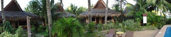 Aqua-Landia : les bungalows et le jardin