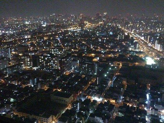 Hotel Osaka Baytower:                   心斎橋方向の夜景