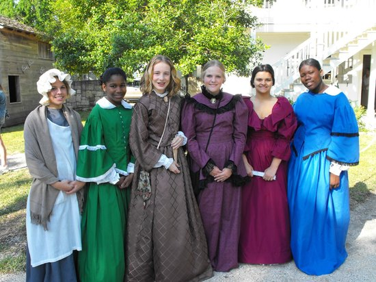 """The Ximenez-Fatio House: """"Living History Day"""" with Girl Scouts of Gateway Council / 4-6-2013 come and see us!"""