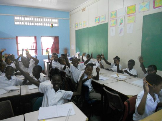 Coyaba Beach Resort:                                                       The school children where we delivered the