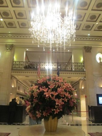 The Roosevelt Hotel:                   the stunning lobby