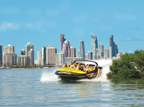 Paradise Jet Boating: Surfers Paradise back drop