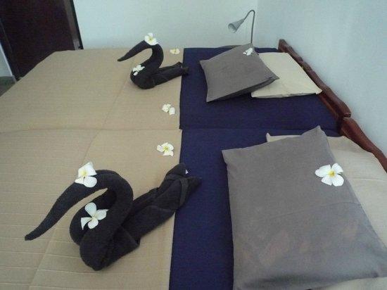Seagreen Guesthouse:                                     gemütliche, breite Bretten
