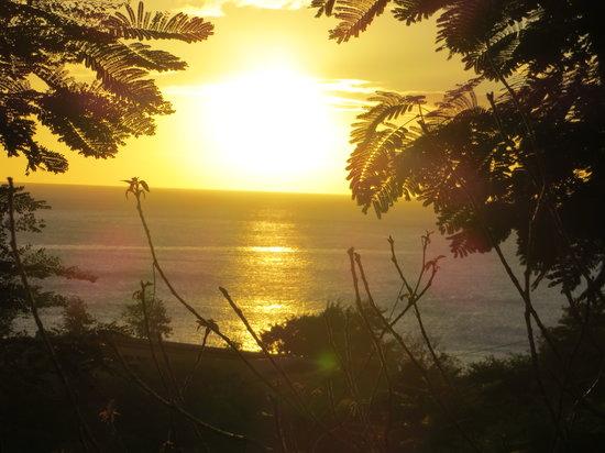 Le Rayon Vert:                   Coucher de soleil vu de notre chambre ( 43 )