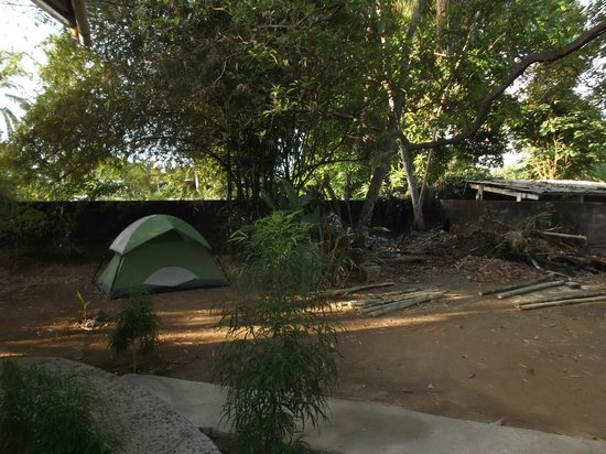 Bambu Hostel :                   Espace camping.