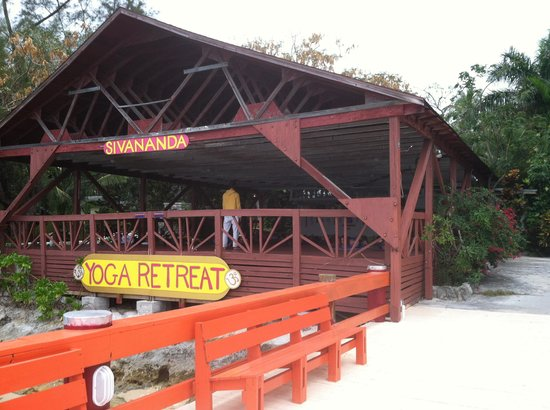 Sivananda Ashram Yoga Retreat:                                     Bay dock Yoga deck