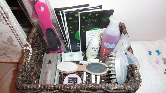 Woodpeckers:                                     Selection of ladies' grooming products laid on