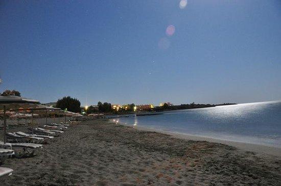 Plakia beach by night