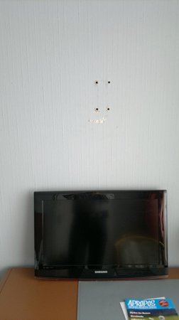 Drachenfelshotel:                                     It was difficult to have a good view of the tv...