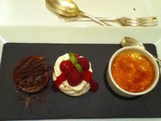 Piedaniel's Restaurant:                                     Trio of puddings :)