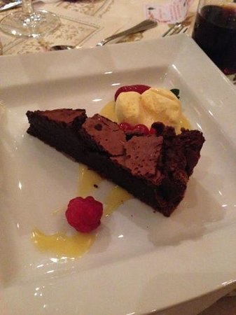 The Brasserie: chocolate cake
