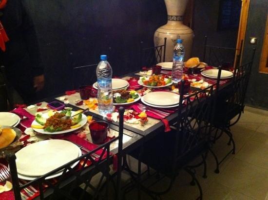 Riad la Fibule:                   repas preferé par abdou!