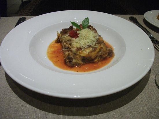 Catalonia Playa Maroma: Lasagne bolognese (Restaurant italien)