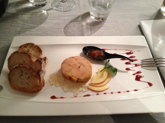 foie gras au torchon picture of le fleurie villefranche. Black Bedroom Furniture Sets. Home Design Ideas