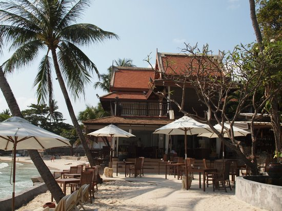 Samui Paradise Chaweng Beach Resort:                   Restaurant (now overhanging the water most of the time)