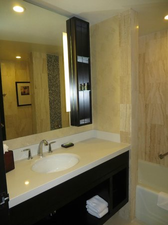 The L.A. Grand Hotel Downtown: Bathroom, room 1017