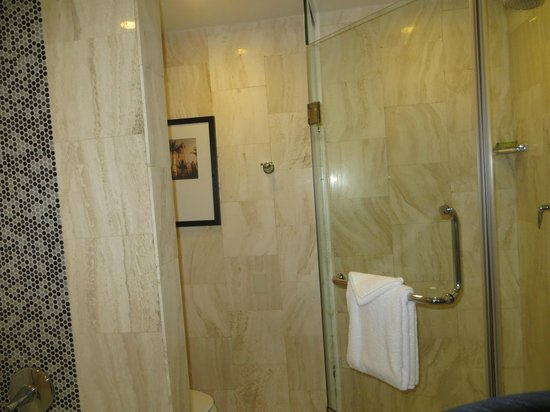The L.A. Hotel Downtown: Bathroom, room 1017