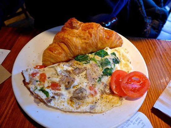 The Omelet with French Baguette.