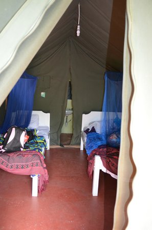 Rhino Tourist Camp:                                     Our tent