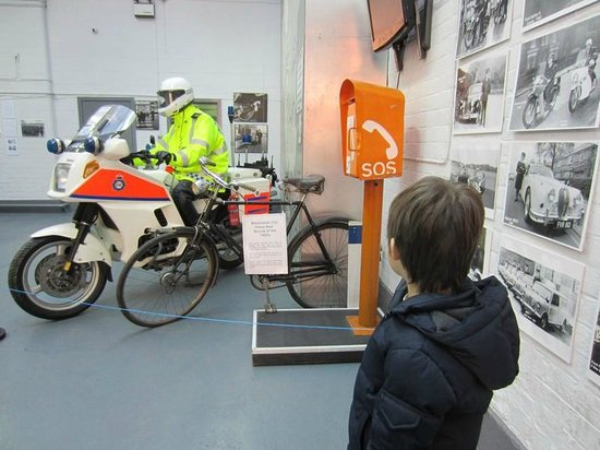 Greater Manchester Police Museum:                   Looking at a display