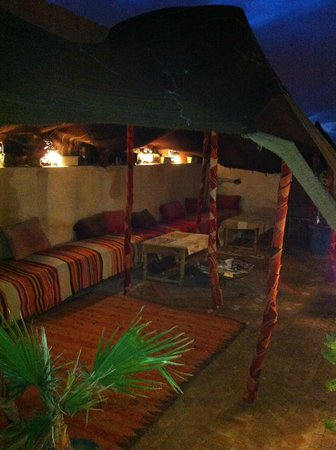Riad Dubai:                   Roof terrace at night