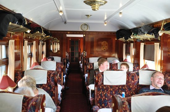 beautifully restored interior of pullman car christine picture of bluebell railway uckfield. Black Bedroom Furniture Sets. Home Design Ideas