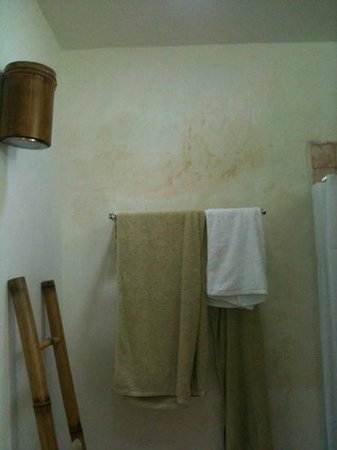 Laguna Gili Beach Resort: stains on walls in bathroom :(