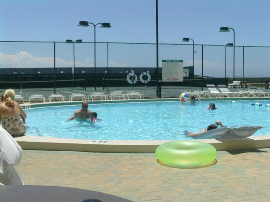 Holiday Surf & Racquet Club:                   The pool area